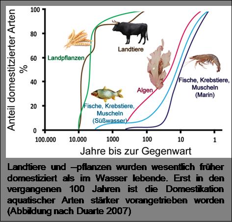 Domestikation verschiedener Nutztiere
